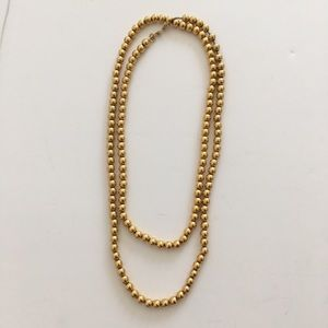 Monet Gold Necklace Costume Long Strand